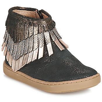 Παπούτσια Κορίτσι Μπότες Shoo Pom PLAY HURON Black / Argenté
