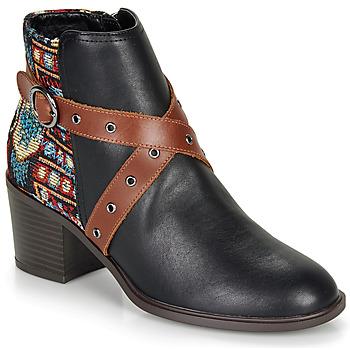 Παπούτσια Γυναίκα Μποτίνια Desigual ALASKA TAPESTRY Black