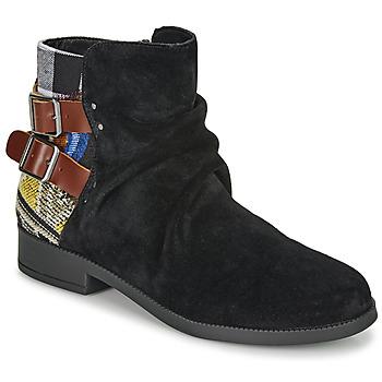 Παπούτσια Γυναίκα Μπότες Desigual OTTAWA PATCH Black