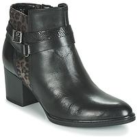 Παπούτσια Γυναίκα Μποτίνια Gabor 3289367 Black / Leopard