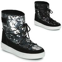 Παπούτσια Γυναίκα Snow boots Moon Boot MOON BOOT PULSE MID DISCO Black / Pailleté