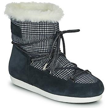 Παπούτσια Γυναίκα Snow boots Moon Boot MOON BOOT FAR SIDE LOW FUR TARTAN Marine