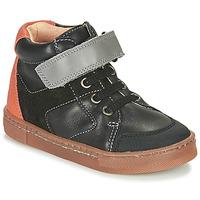 Παπούτσια Αγόρι Ψηλά Sneakers Babybotte KEN Black / Orange