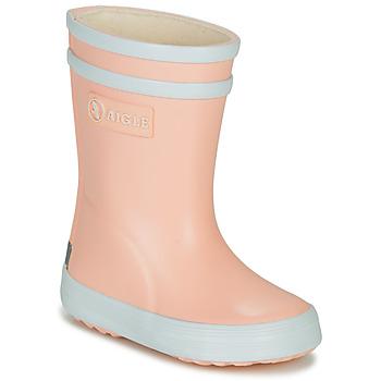 Παπούτσια Κορίτσι Μπότες βροχής Aigle BABY FLAC Ροζ