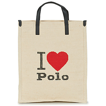 Τσάντες Γυναίκα Cabas / Sac shopping Polo Ralph Lauren I HRT POLO CVS/LTHR Ecru