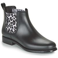 Παπούτσια Γυναίκα Μπότες βροχής Be Only DAKAR Black / Leopard