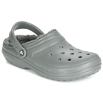 Παπούτσια Σαμπό Crocs CLASSIC LINED CLOG Grey