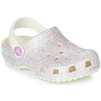 Παπούτσια Κορίτσι Σαμπό Crocs CLASSIC GLITTER CLOG K Άσπρο