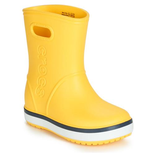 Παπούτσια Παιδί Μπότες βροχής Crocs CROCBAND RAIN BOOT K Yellow / Marine