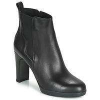 Παπούτσια Γυναίκα Μποτίνια Geox D ANNYA HIGH Black