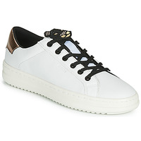 Παπούτσια Γυναίκα Χαμηλά Sneakers Geox D PONTOISE Άσπρο / Cuivré