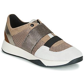 Παπούτσια Γυναίκα Χαμηλά Sneakers Geox D SUZZIE Taupe / Argenté