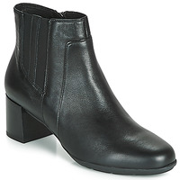 Παπούτσια Γυναίκα Μποτίνια Geox D NEW ANNYA MID Black