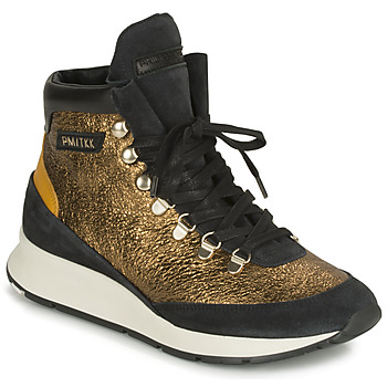 Παπούτσια Γυναίκα Ψηλά Sneakers Philippe Model MONTECARLO Gold / Black