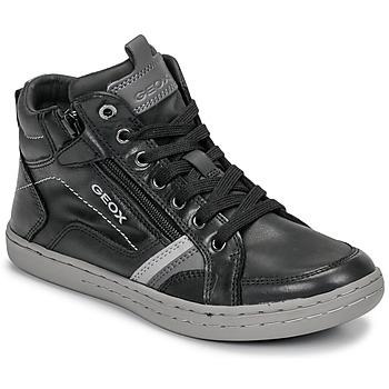 Παπούτσια Αγόρι Ψηλά Sneakers Geox JR GARCIA BOY Black / Grey