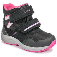 Παπούτσια Κορίτσι Snow boots Geox J KURAY GIRL B ABX Black / Ροζ