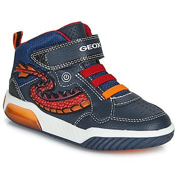 Παπούτσια Αγόρι Ψηλά Sneakers Geox J INEK BOY Μπλέ / Red / Led