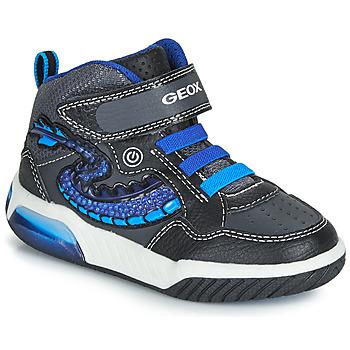 Παπούτσια Αγόρι Ψηλά Sneakers Geox J INEK BOY Black / Μπλέ