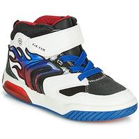Παπούτσια Αγόρι Ψηλά Sneakers Geox J INEK BOY Άσπρο / Μπλέ / Led