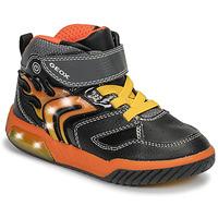 Παπούτσια Αγόρι Ψηλά Sneakers Geox J INEK BOY Black / Orange