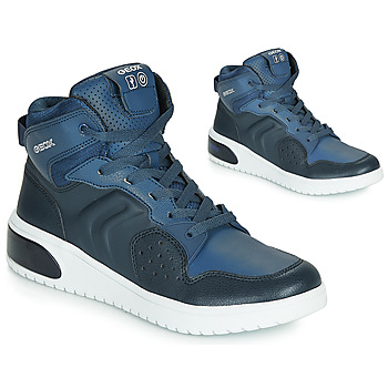 Παπούτσια Αγόρι Ψηλά Sneakers Geox J XLED BOY Μπλέ / Led