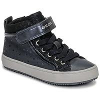 Παπούτσια Κορίτσι Ψηλά Sneakers Geox J KALISPERA GIRL Μπλέ