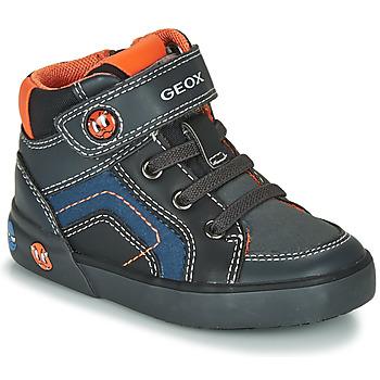 Παπούτσια Αγόρι Χαμηλά Sneakers Geox B KILWI BOY Grey / Black