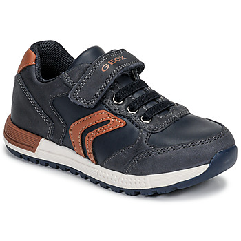Παπούτσια Αγόρι Χαμηλά Sneakers Geox B ALBEN BOY Μπλέ / Cognac