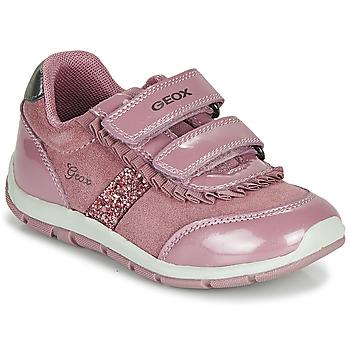 Παπούτσια Κορίτσι Χαμηλά Sneakers Geox B SHAAX Ροζ