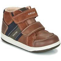 Παπούτσια Αγόρι Ψηλά Sneakers Geox B NEW FLICK BOY Brown / Μπλέ