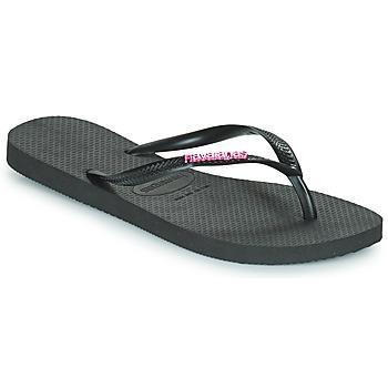 Παπούτσια Γυναίκα Σαγιονάρες Havaianas SLIM LOGO METALLIC Black