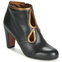 Παπούτσια Γυναίκα Μποτίνια Chie Mihara KOSPI Black / Gold