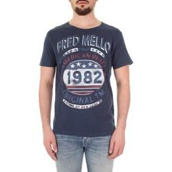 Υφασμάτινα Άνδρας T-shirt με κοντά μανίκια Fred Mello FM19S09TG Blu