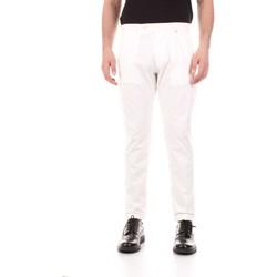 Υφασμάτινα Άνδρας Παντελόνια Πεντάτσεπα Bicolore F2576-ZINCO Bianco