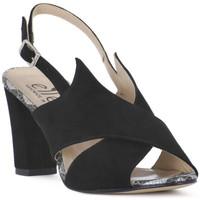 Παπούτσια Γυναίκα Σανδάλια / Πέδιλα Ellen CAMOSCIO NERO Nero