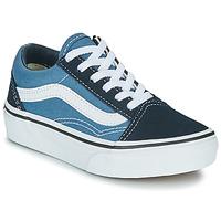Παπούτσια Παιδί Χαμηλά Sneakers Vans UY OLD SKOOL Marine / Άσπρο