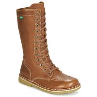 Παπούτσια Γυναίκα Μπότες για την πόλη Kickers MEETKIKNEW Camel