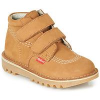 Παπούτσια Αγόρι Μπότες Kickers NEOVELCRO Camel