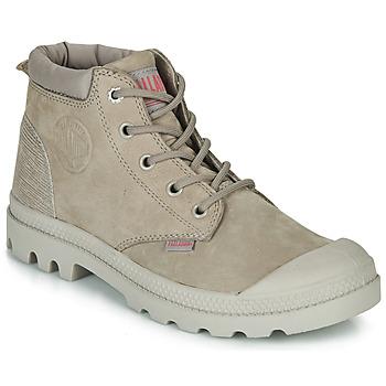 Παπούτσια Γυναίκα Μπότες Palladium PAMPA LO CUFF LEA Grey