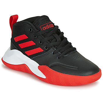 Παπούτσια Αγόρι Basketball adidas Performance OWNTHEGAME K WIDE Black / Red