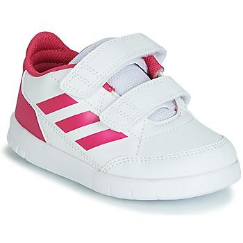 Παπούτσια Κορίτσι Χαμηλά Sneakers adidas Performance ALTASPORT CF I Άσπρο / Ροζ