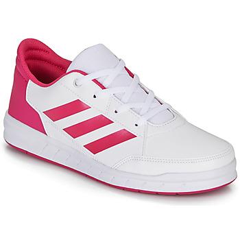 Παπούτσια Κορίτσι Χαμηλά Sneakers adidas Performance ALTASPORT K Άσπρο / Ροζ