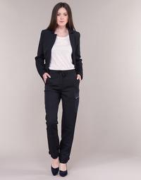 Υφασμάτινα Γυναίκα παντελόνι παραλλαγής G-Star Raw FELDSPAR HIGH STRAIGHT CARGO Marine