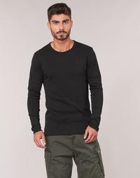 Υφασμάτινα Άνδρας Μπλουζάκια με μακριά μανίκια G-Star Raw BASE TEE Black