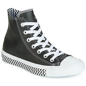 Παπούτσια Γυναίκα Ψηλά Sneakers Converse CHUCK TAYLOR ALL STAR VLTG LEATHER HI Black