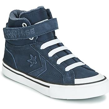 Παπούτσια Παιδί Ψηλά Sneakers Converse PRO BLAZE STRAP SPACE RIDE SUEDE HI Μπλέ