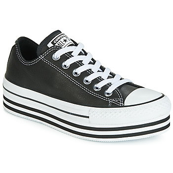 Παπούτσια Γυναίκα Χαμηλά Sneakers Converse CHUCK TAYLOR ALL STAR LAYER BOTTOM LEATHER OX Black / Άσπρο / Black