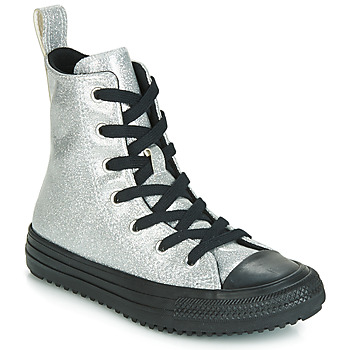 Παπούτσια Κορίτσι Ψηλά Sneakers Converse CHUCK TAYLOR ALL STAR BOOT COATED GLITTER  HI Silver