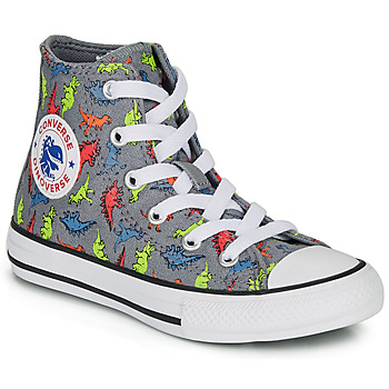 Παπούτσια Αγόρι Ψηλά Sneakers Converse CHUCK TAYLOR ALL STAR DINOVERSE HI Grey