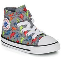 Παπούτσια Αγόρι Ψηλά Sneakers Converse CHUCK TAYLOR ALL STAR 1V DINOVERSE HI Grey